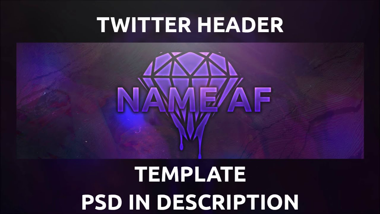 Free Twitter Header Template PSD - YouTube