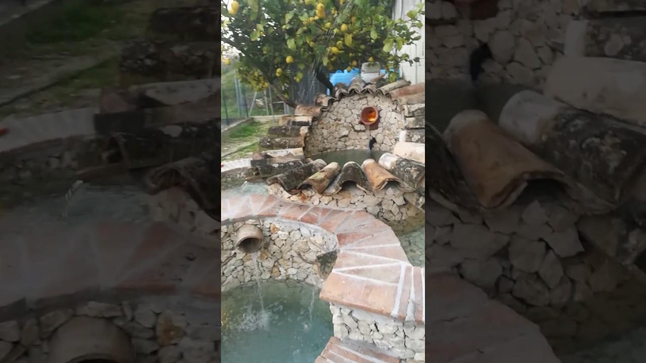 Laghetto fontana per pesci e tartarughe fai da te for Fontana per laghetto