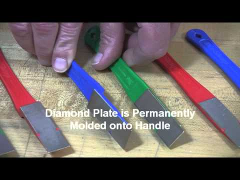 Video of 2 1/2 -inch Diamond Mini-Hone® Sharpeners – Straight & Offset Models