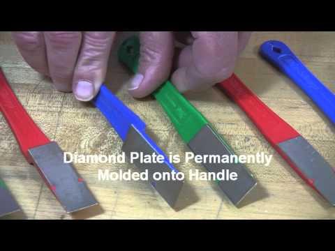 Video of 2 1/2 -inch Diamond Mini-Hone® Sharpeners – Straight & Offset Models