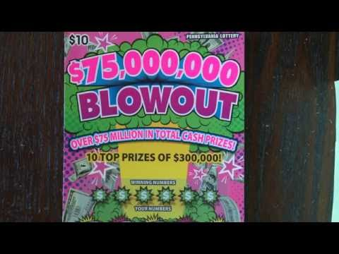 Pt 4 Ivegot Anitch - $10 $75,000,000 Blowout  Pennsylvania Lottery Scratch Off Ticket