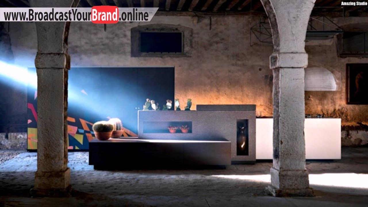 Stein küche granit theke italienische hersteller   youtube