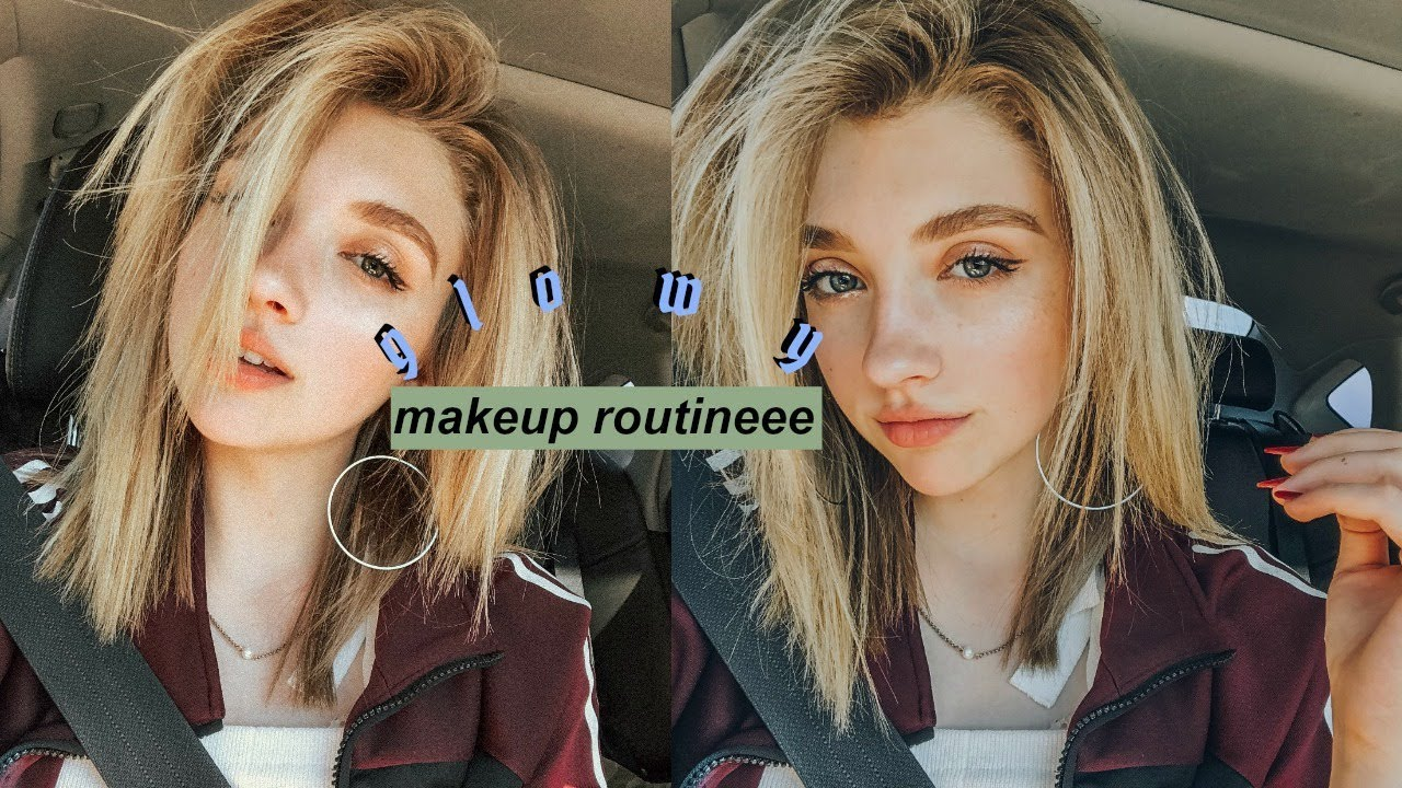 my long lasting glowy makeup for not looking dead lol -