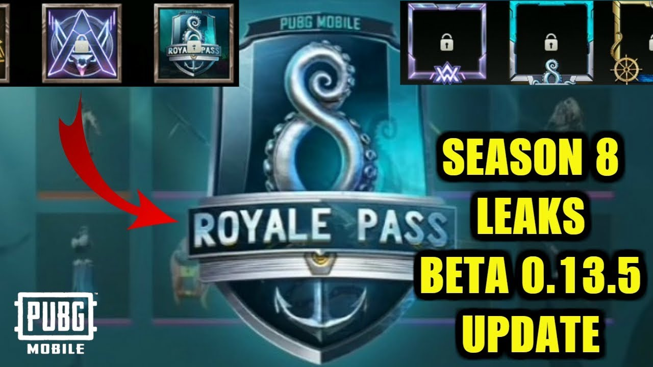 PUBG MOBILE NEW UPDATE 0.13.5 BETA : TOP 6 FEATURES | ROYALE PASS SEASON 8 LEAKS & UPDATES!
