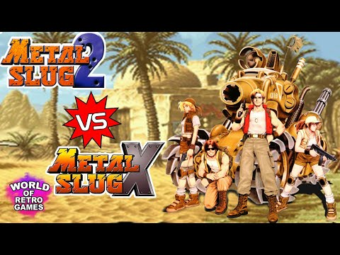 Metal Slug 2 vs Metal Slug X (Arcade) - Side by side comparison | World of Retro Games YT |