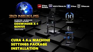 3DN Artillery Sidewinder X1 and Genius Cura 4 6 Profiles Installation