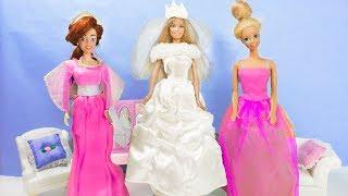 СВАДЬБА Барби и Кена! Barbie PRINCESS doll in Wedding dress!