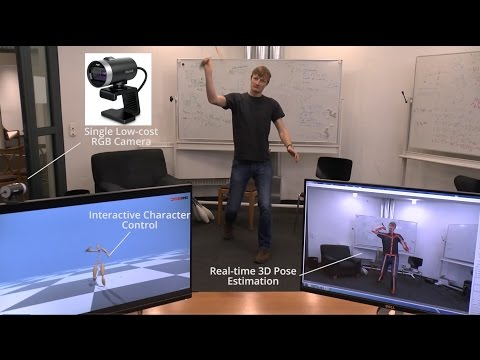 VNect: Real-time 3D Human Pose Estimation with a Single RGB Camera - SIGGRAPH2017
