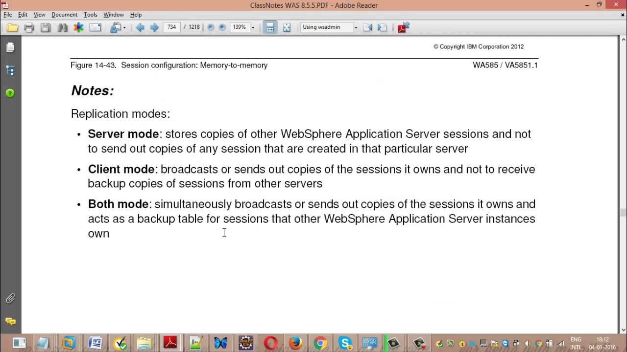 session persistance in WebSphere
