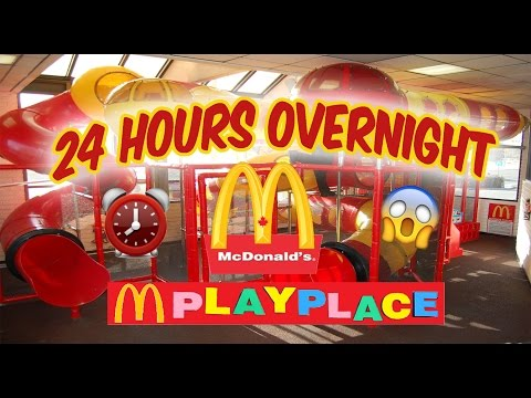(OMG!) 24 HOUR OVERNIGHT in MCDONALDS PLAYPLACE FORT ⏰ | LOCKED in MCDONALDS PLAY PLACE OVERNIGHT 😰