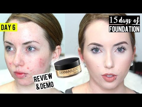 DERMABLEND COVER CREME FOUNDATION { Review & Demo} 15 DAYS OF FOUNDATION