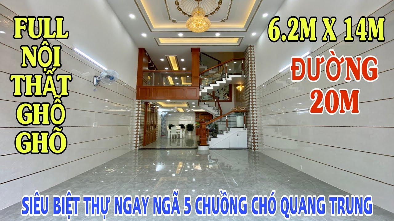 Bán nhà Gò Vấp 638| SIÊU BIỆT THỰ MINI PHỐ 6.2x14m nằm ngay NGÃ 5 CHUỒNG CHÓ đường Quang Trung P10