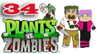 ч.34 Растения против Зомби с кошкой - Большие проблемы, маленькие зомби и Портальная битва