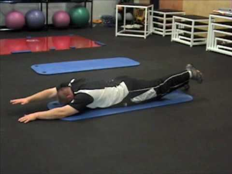 Prone Alternating Hip and Shoulder Extension - YouTube