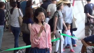 高島平駅 広場で地元祭りにて.