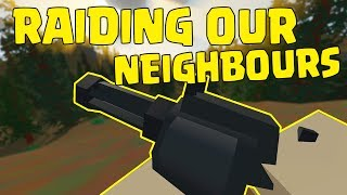raiding our neighbours hind owner ep4 unturned duo survival lets play multiplayer