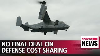 S. Korea and U.S. fail to reach final deal on how to share defense costs during 10th round..