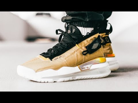 Jordan Proto Air Max 720 Club Gold Sneaker Detailed Look Review