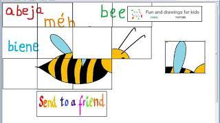 لغز مع الموسيقى واللغات للأطفال - النحل