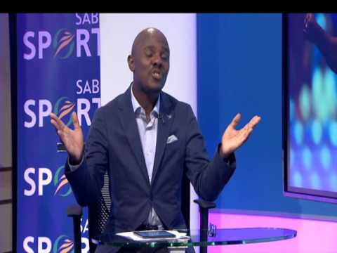 Thomas Mlambo, host of sport @ 10 interviews footballer Kagisho Dikgacoi