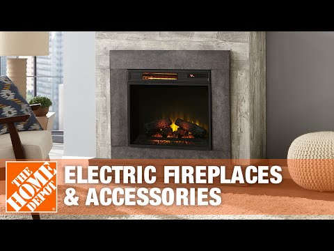 Electric Fireplaces & Accessories | The Home Depot