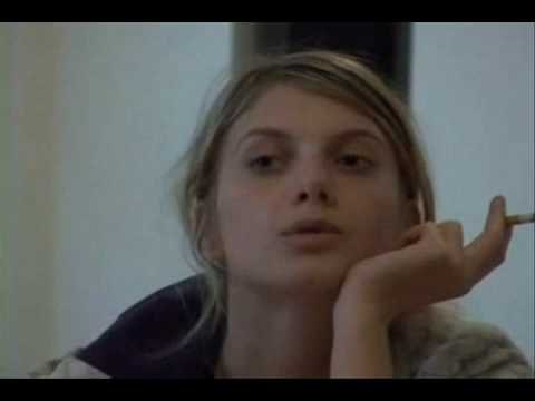 Melanie Laurent without makeup & smoking