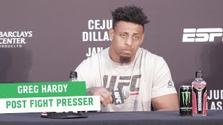 Greg Hardy laments DQ loss: 'I thought it was the right thing to do' | Post Fight Press Conference