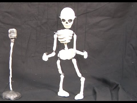 Art Lesson:  How to Make a Skeleton Puppet Marionette