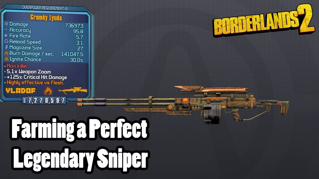 Borderlands 2: Farming a Perfect Legendary Sniper- but no class mod