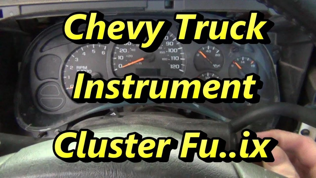maxresdefault cheverolet silverado instrument cluster fix youtube 1990 Chevy Truck Wiring Diagram at fashall.co
