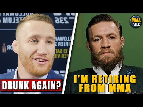 Justin Gaethje ROASTS Conor McGregor Following Retirement,Dana White Reacts To Conor Retiring,UFC250