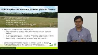 Himlal Baral on Ecosystem services from planted forests