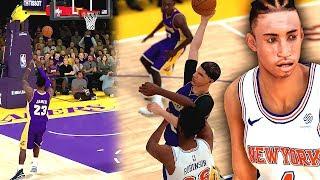 NBA 2K19 MyCAREER LaMelo Ball #14 - JULIAN NEWMAN NBA DEBUT! Bron Throws Off Backboard Alley To Melo