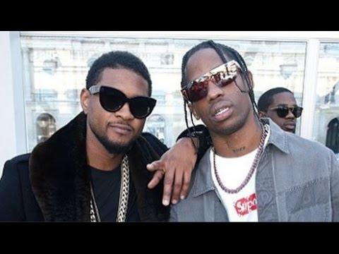 Travis Scott & Usher style up for the Louis Vuitton X Supreme fashion show