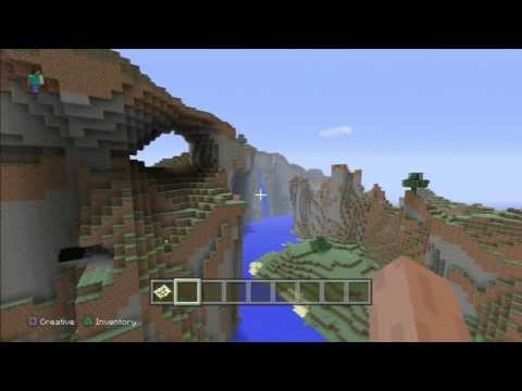 Minecraft PS3 Edition Beautiful Mountains with Waterfalls (SEED)