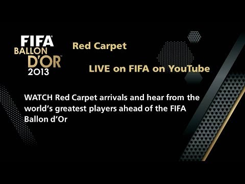 REPLAY: Red Carpet at FIFA Ballon d'Or 2013