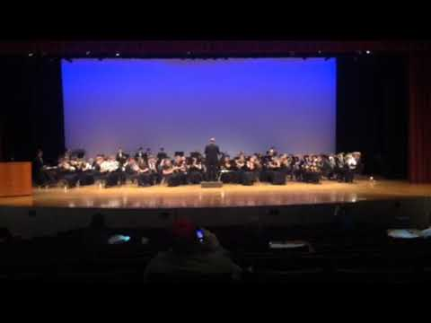 And yet another performance of the Jamestown high school band 2018
