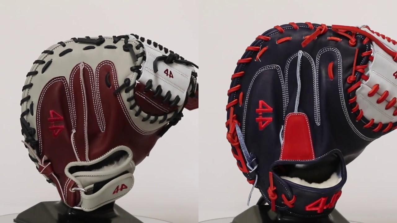 44 Pro Custom Catchers Mitt Velcro Vs Traditional Wrist Youtube