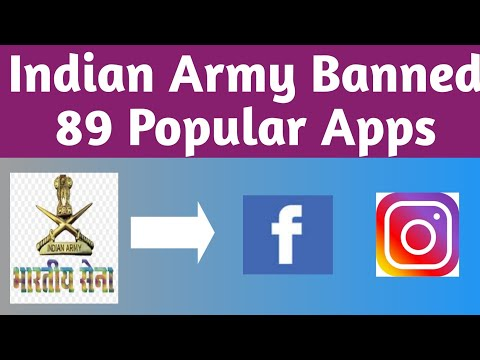 Indian army banned 89 apps - Facebook ban in india, Instagram ban in india, PUBG ban in india from YouTube · Duration:  1 minutes 13 seconds
