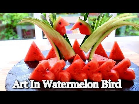 Art In Watermelon Brid | DIY Watermelon Heart | Fruit & Vegetable Carving Lessons