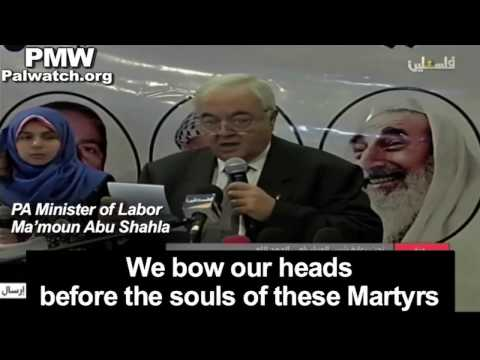 """Abbas' rep. at event honoring terrorists: """"Blessings to the souls of our Martyrs"""""""