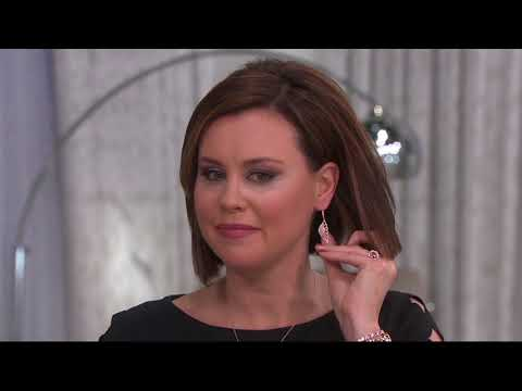 Diamonique Angel Wing Earrings, Sterling or 18K Gold Plated on QVC