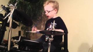 pearl jam jaxon smith 6 yr old self taught drummer brain of j
