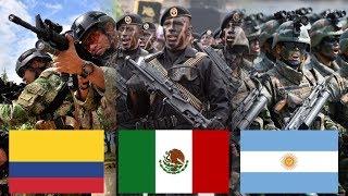 Los 10 Ejercitos mas Poderosos de Latinoamerica (2017)