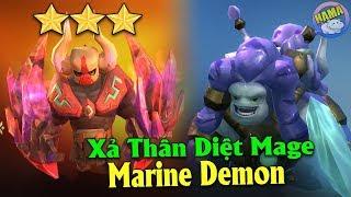 """Auto chess Mobile - Liều Mình Tiêu Diệt """"6 Mage Rồng 3"""" Bằng Team Marine Demon"""
