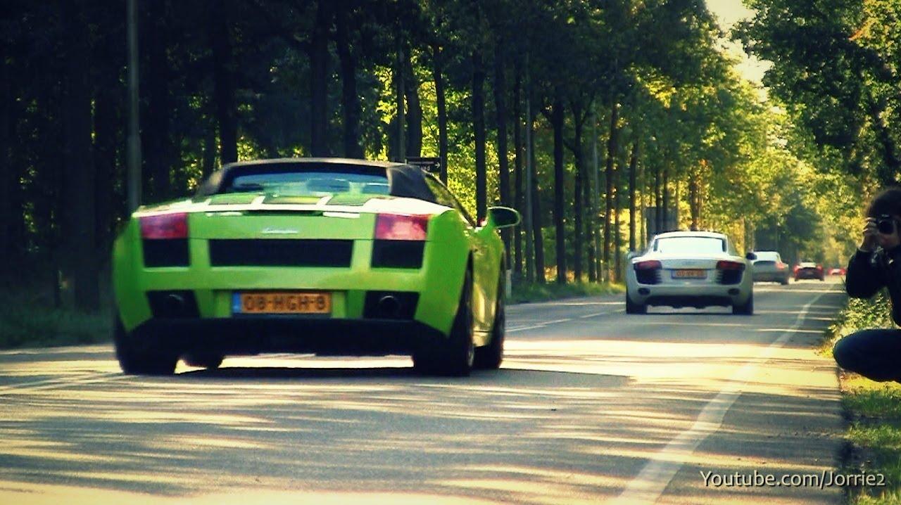green lamborghini gallardo spyder sound 1080p hd youtube - Lamborghini Gallardo Spyder Green