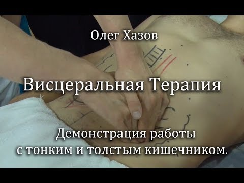 Висцеральная терапия. Демонстрация массажа кишечника. Олег Хазов