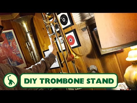 Making a Wall-Mounted Trombone Stand from Galvanized Pipe