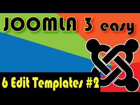Joomla 3 Tutorials: How to Edit Templates In Joomla Part 2 - YouTube
