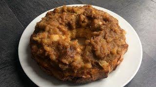 Рецепт Бисквитная шарлотка с яблоками